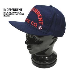 INDEPENDENT/インデペンデント ITC BOLD MID PROFILE SNAPBACK HATS NAVY CAP/キャップ HAT/ハット 帽子 キャップ トラッカー|surfingworld|02