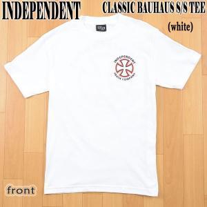INDEPENDENT/インデペンデント CLASSIC BAUHAUS S/S TEE WHITE メンズ Tシャツ 男性用|surfingworld