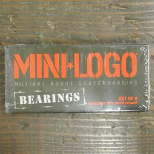 BONES MINI LOGO/ミニロゴ  スケートボード用ベアリング/BEARING OILED ...