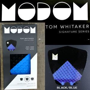 値下げしました!デッキパッド MODOM/モドム TOM WHITAKER/トムウィッタカー モデル BLACK/BLUE サーフボード用サーフィン用デッキパッチ トラクションパッド|surfingworld
