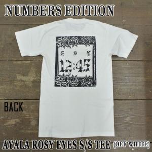 NUMBERS EDITION/ナンバーズエディション AYALA ROSY EYES S/S TEE OFF WHITE 半袖Tシャツ 丸首|surfingworld