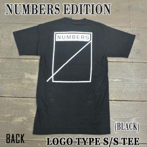 NUMBERS EDITION/ナンバーズエディション LOGOTYPE S/S TEE BLACK 半袖Tシャツ 丸首|surfingworld