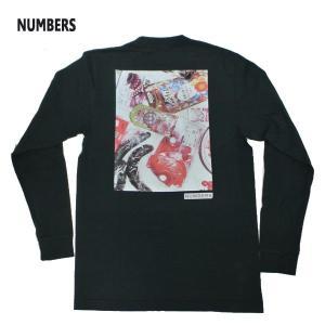 NUMBERS EDITION/ナンバーズエディション DAIFU L/S TEE BLACK 長袖Tシャツ 丸首 ロンT 男性用 メンズ T-SHIRTS|surfingworld