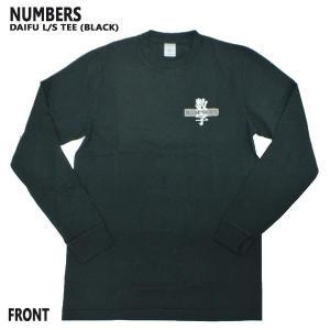 NUMBERS EDITION/ナンバーズエディション DAIFU L/S TEE BLACK 長袖Tシャツ 丸首 ロンT 男性用 メンズ T-SHIRTS|surfingworld|02