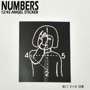 NUMBERS EDITION/ナンバーズエディション 12:45 ANGEL STICKER BLACK ステッカー シール スケボー 01|surfingworld