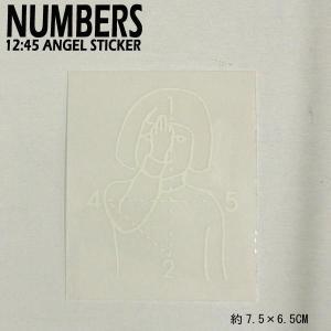 NUMBERS EDITION/ナンバーズエディション 12:45 ANGEL STICKER WHITE ステッカー シール スケボー 02|surfingworld