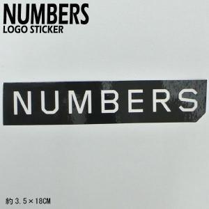 NUMBERS EDITION/ナンバーズエディション MITERED LOGO STICKER BLACK ステッカー シール スケボー 03|surfingworld