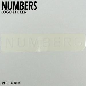 NUMBERS EDITION/ナンバーズエディション MITERED LOGO STICKER WHITE ステッカー シール スケボー 04|surfingworld