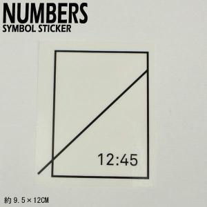 NUMBERS EDITION/ナンバーズエディション SYMBOL STICKER BLACK ステッカー シール スケボー 05|surfingworld