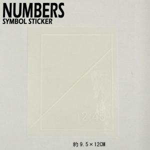 NUMBERS EDITION/ナンバーズエディション SYMBOL STICKER WHITE ステッカー シール スケボー 06|surfingworld