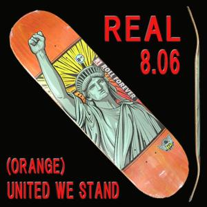 REAL/リアル UNIRTED WE STAND (HUMIDITY) ORANGE 8.06 DECK スケートボード/スケボーデッキ SK8 surfingworld