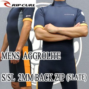 RIP CURL/リップカール 2mm AGGROLITE S/SL BACK ZIP SLATE スプリング WET SUITS/ウェットスーツ 送料無料 男性用 メンズ surfingworld