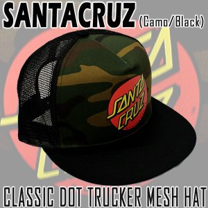 SANTACRUZ/サンタクルズ CLASSIC DOT TRUCKER HAT CAMO/BLACK CAP/キャップ HAT/ハット 帽子|surfingworld