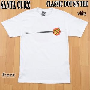 SANTA CRUZ/サンタクルズ CLASSIC DOT S/S TEE WHITE メンズ Tシャツ 男性用|surfingworld