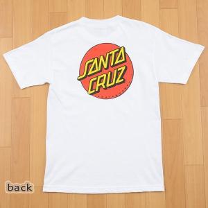 SANTA CRUZ/サンタクルズ CLASSIC DOT S/S TEE WHITE メンズ Tシャツ 男性用|surfingworld|02
