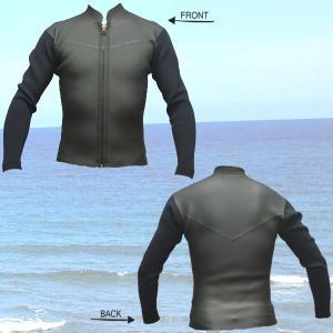 オリジナル 2mm メンズ 長袖タッパー  メッシュxフラットスキンxジャージ 国産 レトロタイプ ウェットスーツ_送料無料_サーフィン用|surfingworld|02