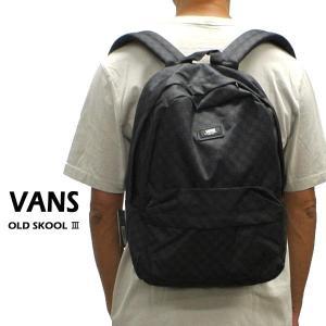 VANS/バンズ ヴァンズ OLD SKOOL 3 BACKPACK BLACK/CHARCOAL チェッカー 鞄 リュック バックパック [返品、交換及びキャンセル不可]|surfingworld
