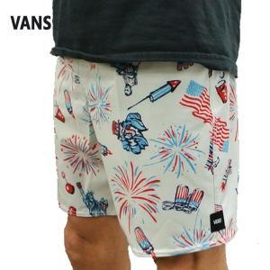 VANS/バンズ MIXED BOARDSHORTS 18 USA! USA! USA!  男性用 サーフパンツ ボードショーツ サーフトランクス 海水パンツ 海パン メンズ 水着|surfingworld