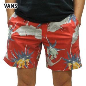 VANS/バンズ ARACHNOFLORIA BOARDSHORTS 17 RACING RED  男性用 サーフパンツ ボードショーツ サーフトランクス 海水パンツ 海パン メンズ 水着|surfingworld