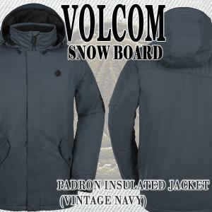 VOLCOM/ボルコム PADRON INS JACKET VNY メンズ 男性用 スノボ用ジャケット スタンダード スノボウェア 上着 スノーウェア 耐水 防寒 機能性 10000MM|surfingworld