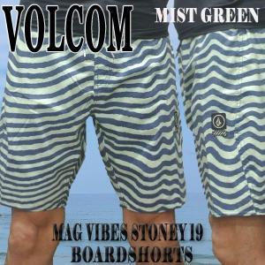 VOLCOM/ボルコム MAG VIBES STONEY 19 BOARDSHORTS MIST GREEN 男性用 サーフパンツ ボードショーツ トランクス メンズ MENS 水着 海パンMGN 811802|surfingworld