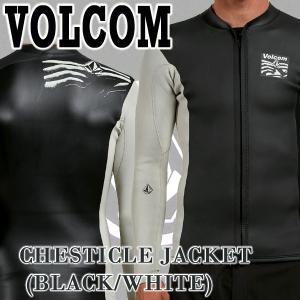 値下げしました!VOLCOM/ボルコム CHESTICLE JACKET BLACK/WHITE メンズ長袖タッパー 男性用サーフィン用ウェットスーツ 送料無料!!|surfingworld