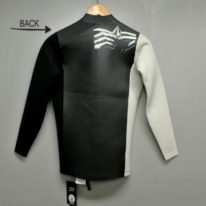 値下げしました!VOLCOM/ボルコム CHESTICLE JACKET BLACK/WHITE メンズ長袖タッパー 男性用サーフィン用ウェットスーツ 送料無料!!|surfingworld|03