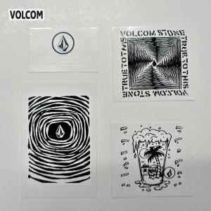 VOLCOM/ボルコム STICKER 4枚セット (B) ステッカー スケボー ヴォルコム ビニールシール VOLCOMSTONE|surfingworld