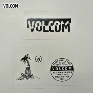 VOLCOM/ボルコム STICKER 3枚セット (D) ステッカー スケボー ヴォルコム ビニールシール VOLCOMSTONE|surfingworld