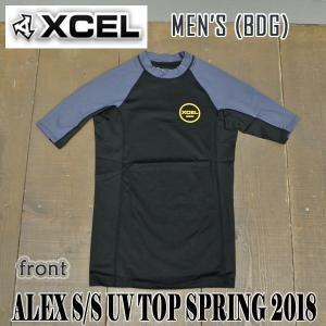 XCEL/エクセル メンズ半袖ラッシュガード MENS ALEX S/S UV TOP RASHGUARD BDG 男性用水着 UVカット mlc40517|surfingworld