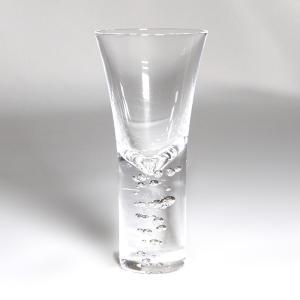 スガハラ グラス 3type of bubbles 3種の泡  ショットグラス  クリア 高さ:約10.5cm 容量:約50ml サイズ注意!!|surouweb