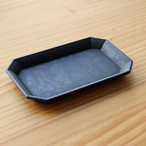 FUTAGAMI 真鍮の生活用品 真鍮・鋳肌の文具トレイ 黒ムラ 中 surouweb