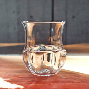 河上智美 吹き硝子の器 レトロワイングラス クリア|surouweb