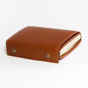 コンパクトな財布 m+ エムピウ MILLEFOGLIE2 Pig コニャック|surouweb