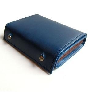 コンパクトな財布 m+ エムピウ MILLEFOGLIE2 Pig ブルーチョコ|surouweb