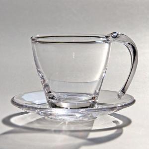 スガハラ ガラスのカップ&ソーサー Bal's Table ノマ クリア|surouweb