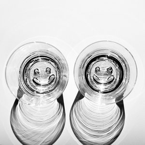 スガハラ グラス nico ニコ  オールドグラス スマイルとウィンクの2個セット クリア|surouweb
