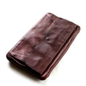 SyuRo シュロの革小物 長財布ブラウン|surouweb