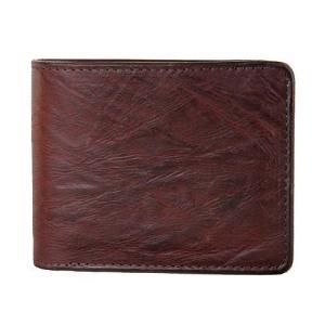 SyuRo シュロの革小物 二つ折り財布 ブラウン|surouweb