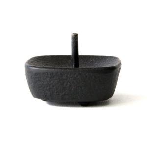 和ろうそくの燭台 こま(南部鉄製)