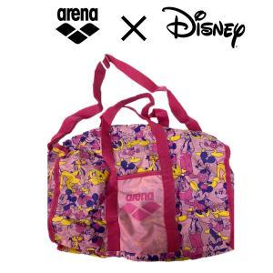 アリーナ arena バッグ  ディズニー デリバリー 水泳 プール スイミング かばん かわいい ピンク コラボ|surpreza