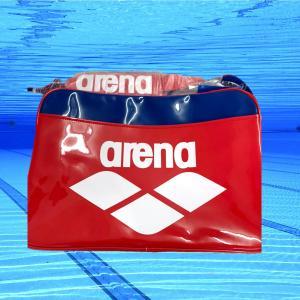 水泳 バッグ arena ショルダー スイミング プール エナメル 赤 レッド 大きめ ショルダー スポーツ  FAR-3925|surpreza