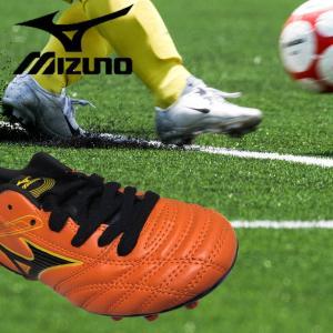 ミズノ MIZUNO サッカー スパイク シューズ 20cm子ども 子供 ジュニア 20cm エストレーラネオJr オレンジ 人工芝|surpreza