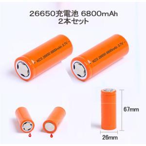 【レビュー書いて送料無料】充電式電池2本セット/26650充電池2本/26650/リチウムイオン充電池/バッテリー/6800 mAH|surprise-collection