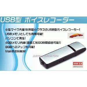 【レビューを書いて定形外送料無料】USB型ボイスレコーダー 4GB内蔵/USBメモリ/大容量/長時間録音/携帯便利/操作簡単/8GBへアップ可能/ICレコーダー vr01|surprise-collection