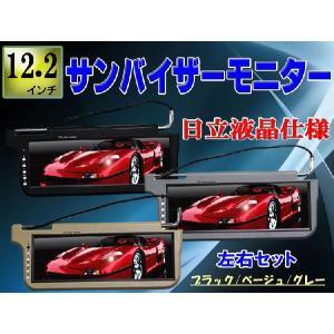 車用サンバイザーモニター12.2インチ 左右セット 日立製液晶|surprise-parts