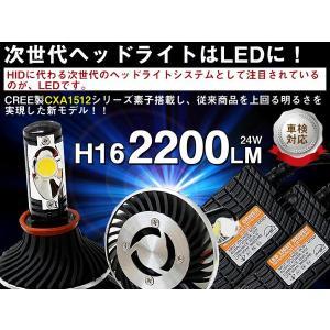 LED ヘッドライト H16 24W 5000K CREE製|surprise-parts