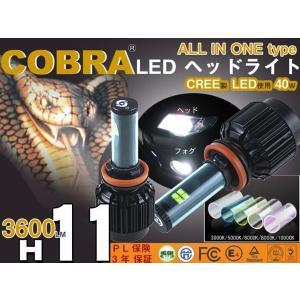 COBRA製 LEDヘッドライト一体型 H11 40W 3600LM 5000K6000K8000K|surprise-parts