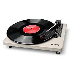 【送料無料】 ION Audio Compact LP 革張りレコードプレーヤー 音源デジタル化 Cream (取寄商品)|surpriseweb
