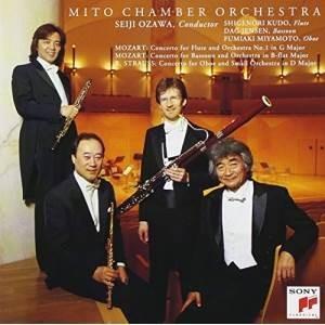 CD/小澤征爾/モーツァルト:フルート協奏曲第1番/ファゴット協奏曲 R.シュトラウス:オーボエ協奏曲